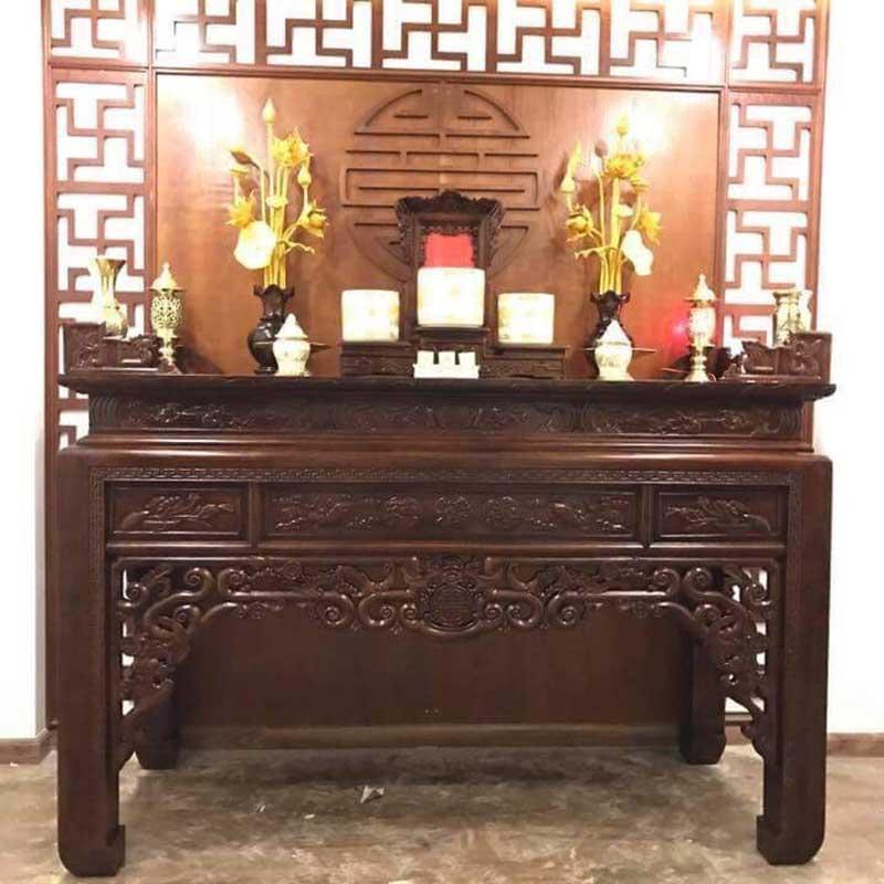 Án gian thờ, hương án thờ đẹp cho căn hộ chung cư AG905