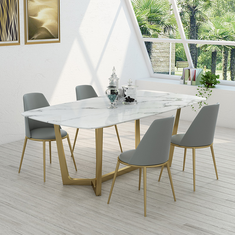Bộ bàn ăn mặt đá cực sang trọng cho phòng bếp BA999