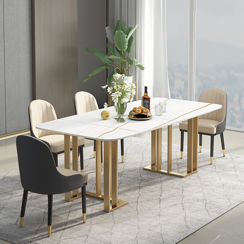 Bộ bàn ăn mặt đá nhập khẩu 4 ghế Titan BA998