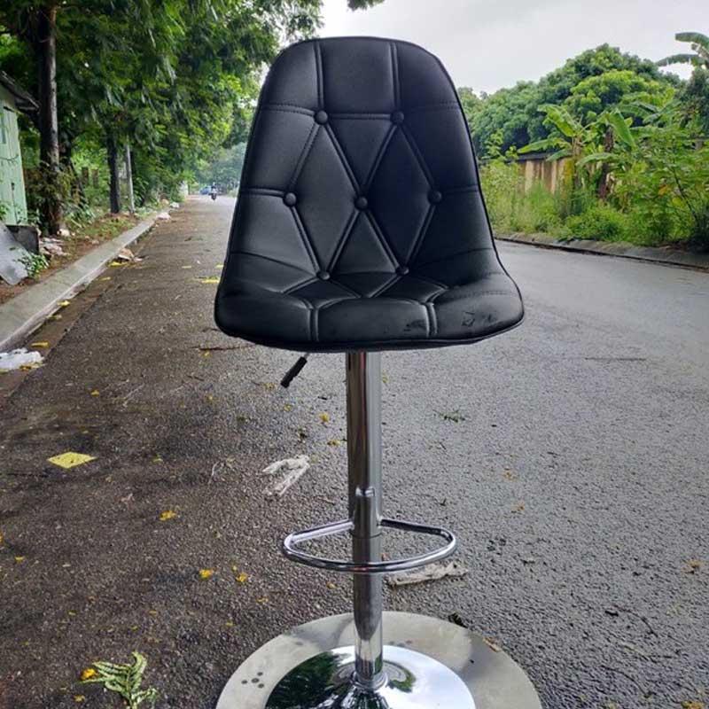 Ghế Bar đệm da lưng ghế hoạt tiết tam giác nhiều màu GB208