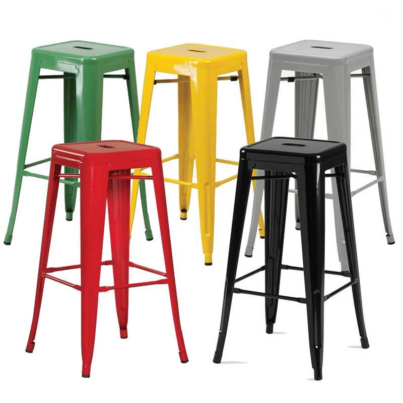 Ghế Bar Tolix chân cao màu sắc đa dạng độ bền cao GB266