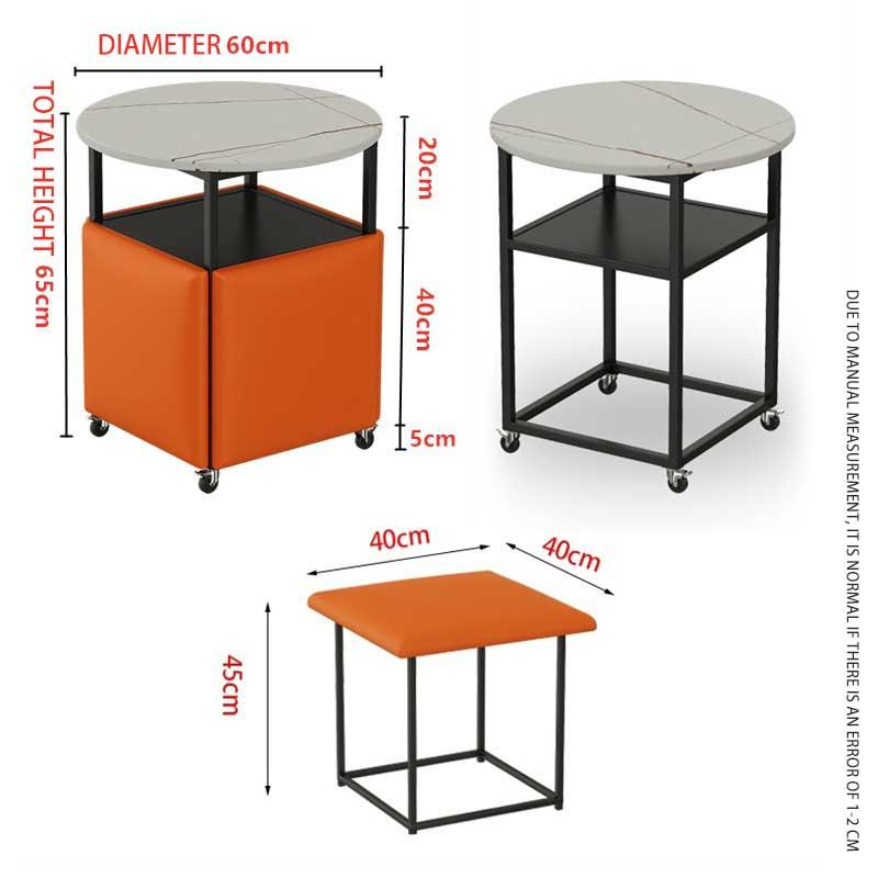 Bộ bàn ghế lập phương gấp gọn thông minh 5 trong 1 GC522
