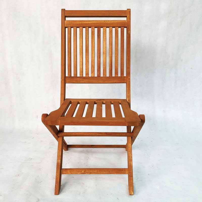 Ghế cafe ngoài trời xếp gọn gỗ tràm giá rẻ GC629