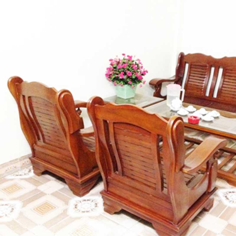 Bộ bàn ghế phòng khách mẫu Đài Loan giá rẻ gỗ xoan ta BK201