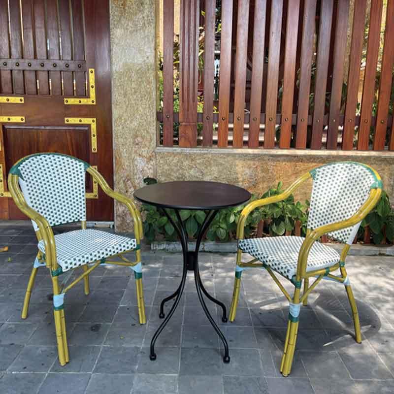 Bộ bàn ghế sân vườn khung nhôm sơn giả mây BS260