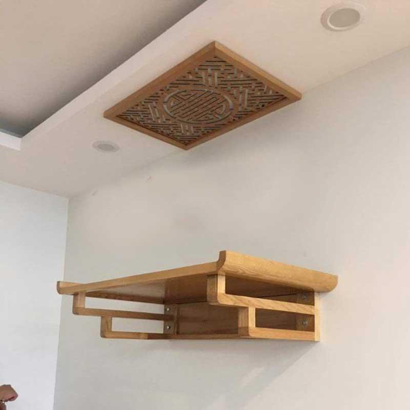 Bàn thờ treo tường gỗ sồi giá rẻ BO689