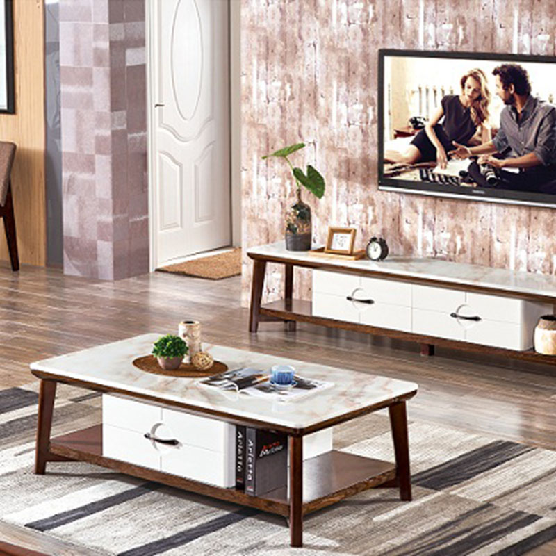 Bàn sofa mặt đá cẩm thạch tự nhiên cao cấp BT683