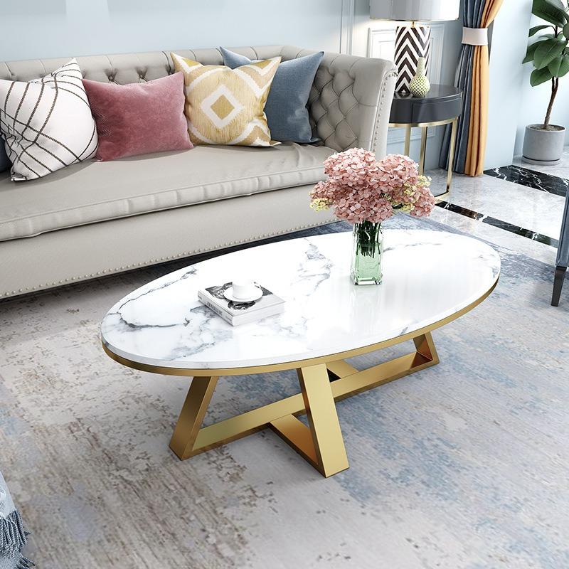 Bàn trà sofa hình Ô Van mặt đá cho phòng khách BT906