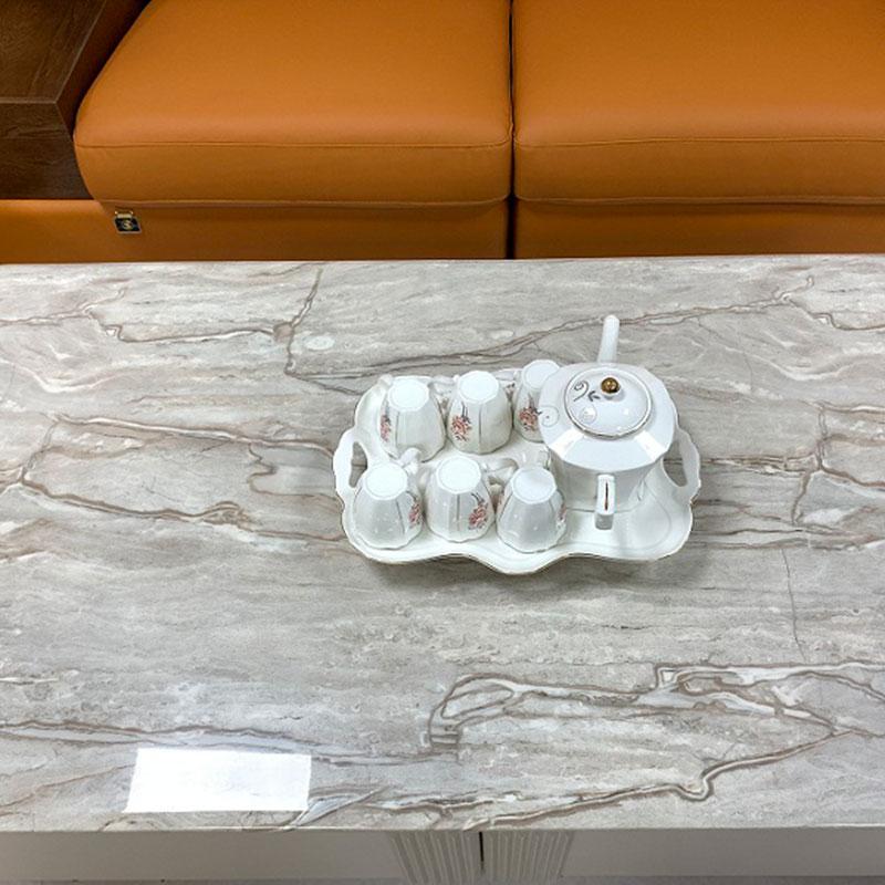 Bàn trà sofa mặt đá tự nhiên nhập khẩu cao cấp vân đẹp BT681