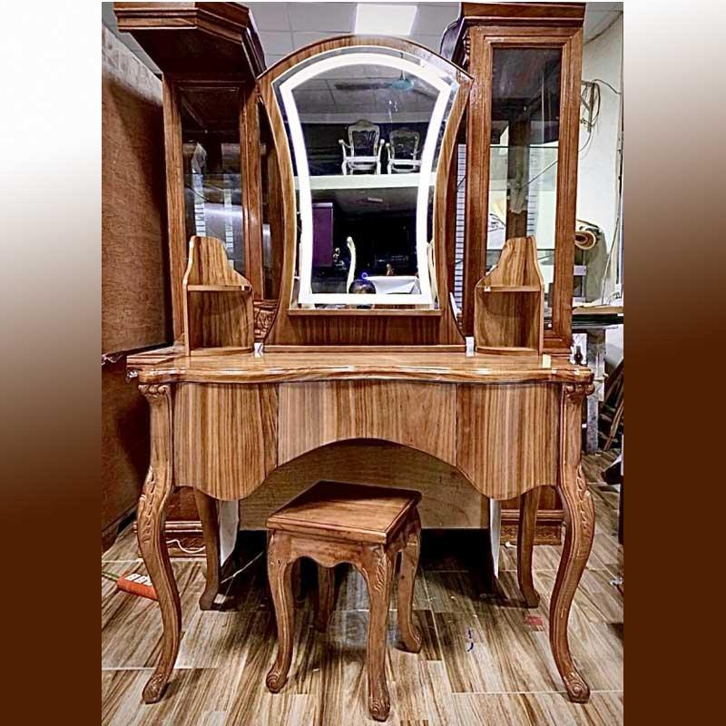 Bàn trang điểm gỗ hương phong cách cổ điển BP566