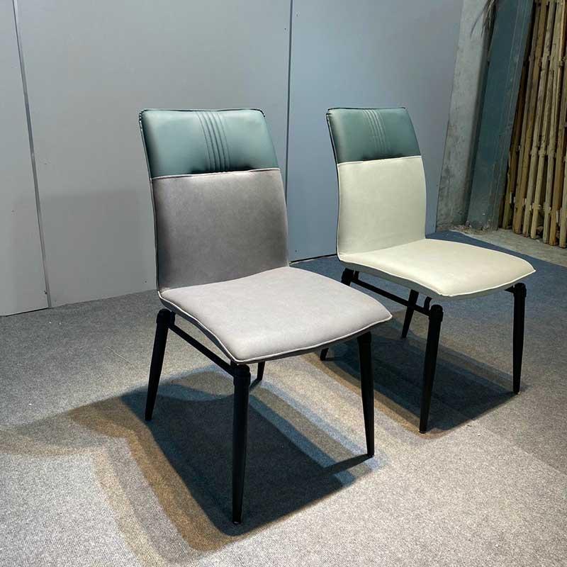 Mẫu ghế ăn Head nhập khẩu, đệm da lưng ghế phối 2 màu GA696