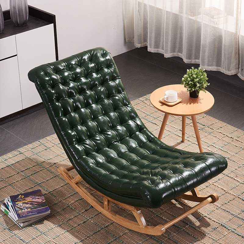 Ghế bập bênh thư giãn khung gỗ kèm đôn ghế GG232