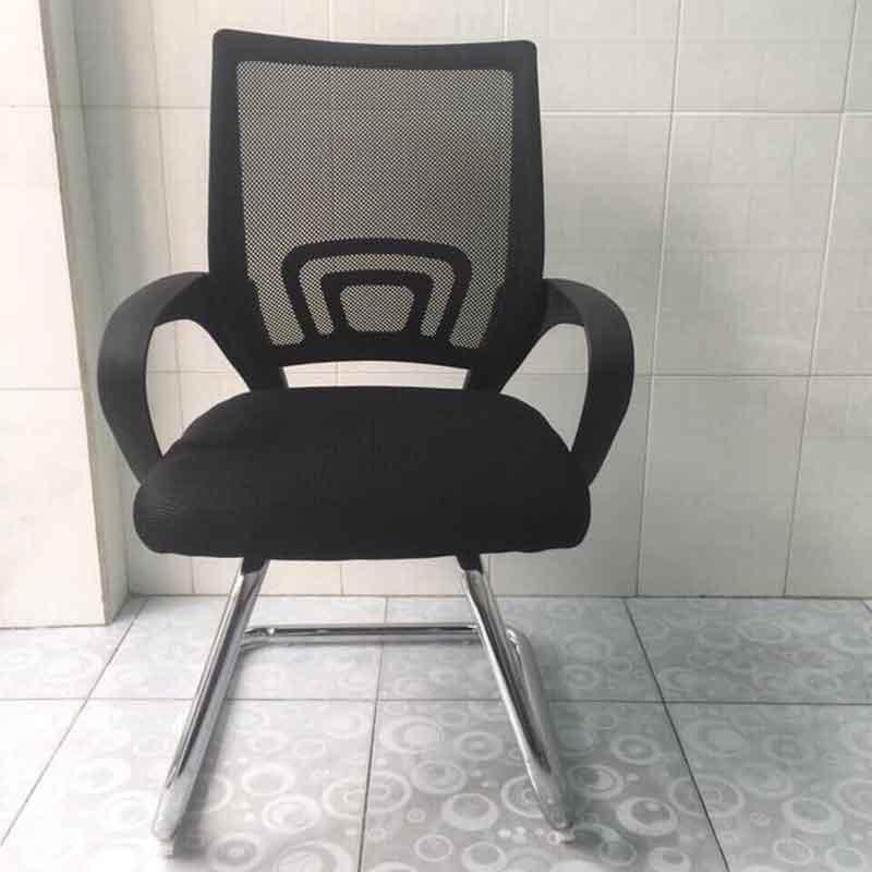 Ghế văn phòng chân quỳ mạ crom mặt ghế lưới GV558