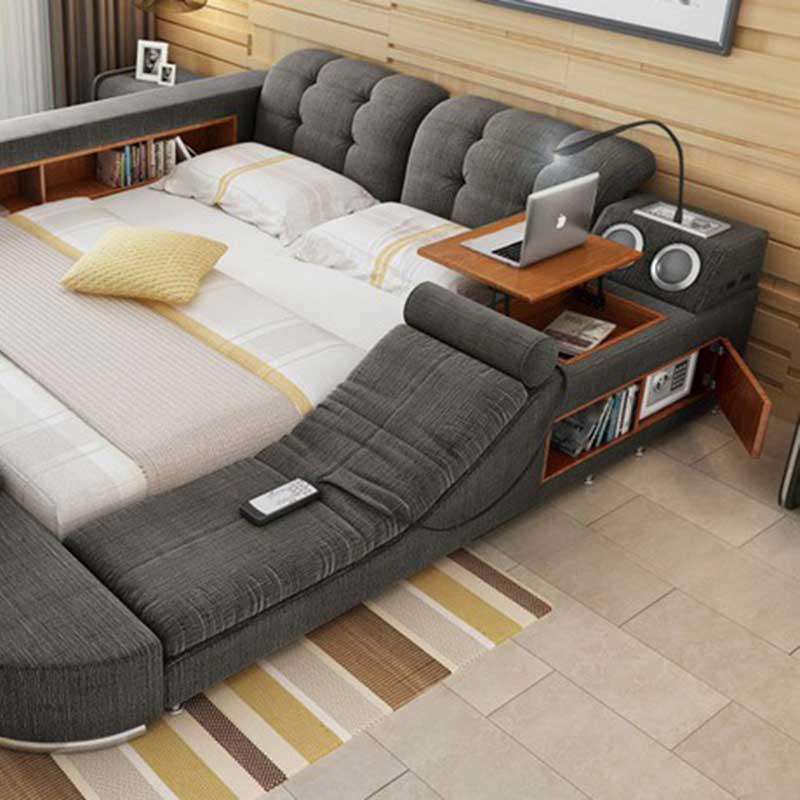 Giường ngủ đa năng thế hệ mới bọc nỉ GN006