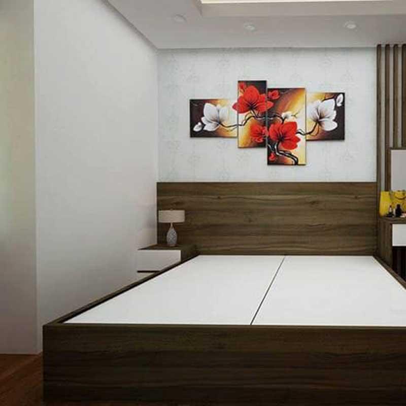 Giường ngủ gỗ công nghiệp MDF giá rẻ GN066