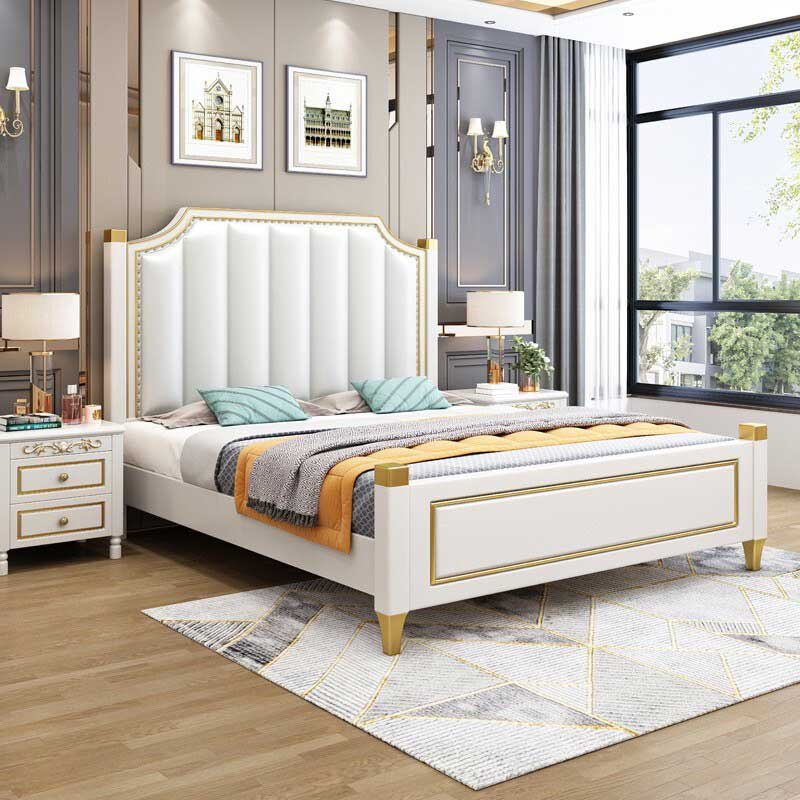 Giường ngủ nhập khẩu 1m8x2m bọc da cao cấp GN856