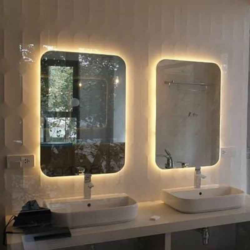 Gương LED khung Inox sơn tĩnh điện hình chữ nhật GT855