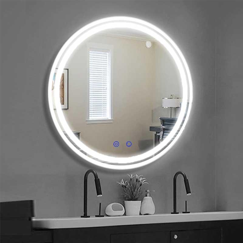 Gương tròn đèn LED cảm ứng cao cấp cho phòng tắm GT809