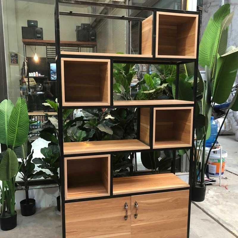 Kệ trang trí Decor kết hợp tủ gỗ công nghiệp MDF TR209