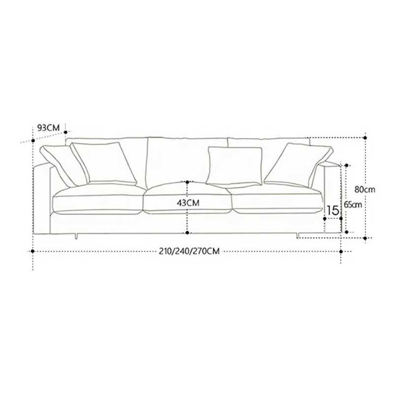 Sofa văng bọc nỉ cao cấp, khung gỗ mút mềm SF660