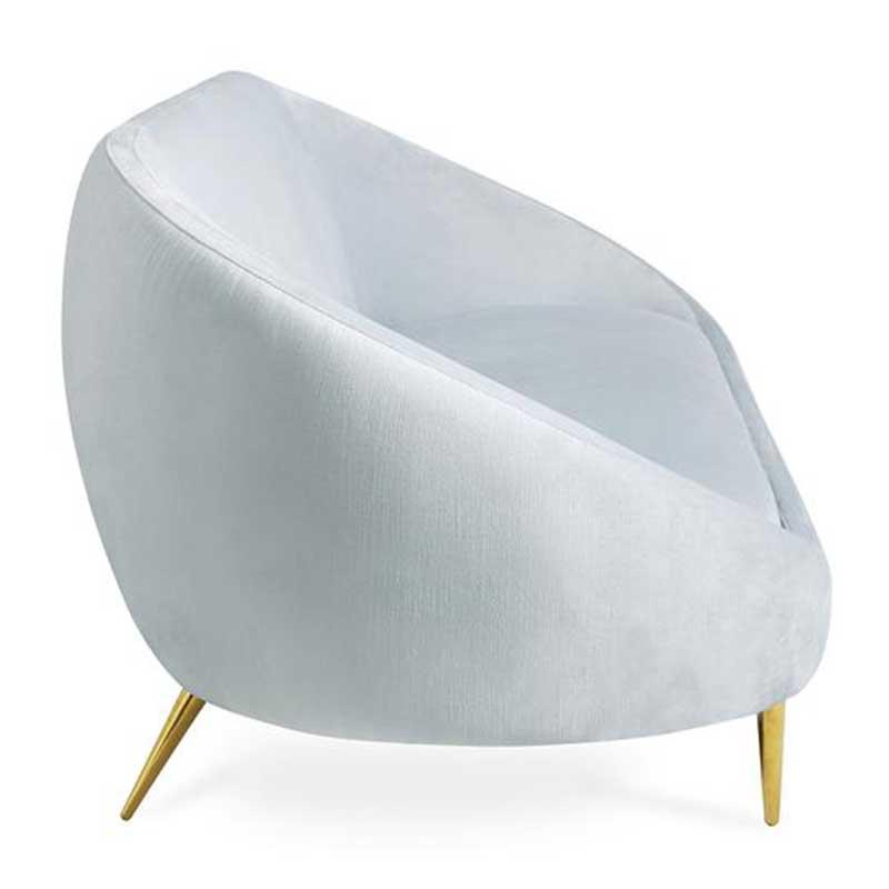 Sofa văng kiểu dáng đẹp mắt bọc vải nhung SF644