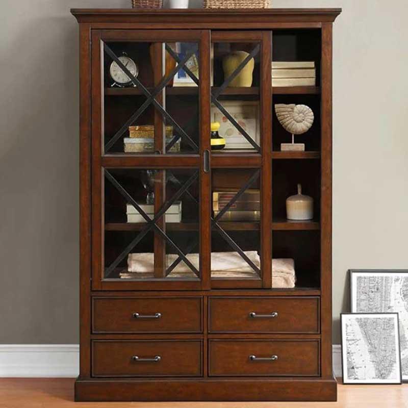 Tủ bếp gỗ tự nhiên thiết kế hiện đại đẹp mắt TB881