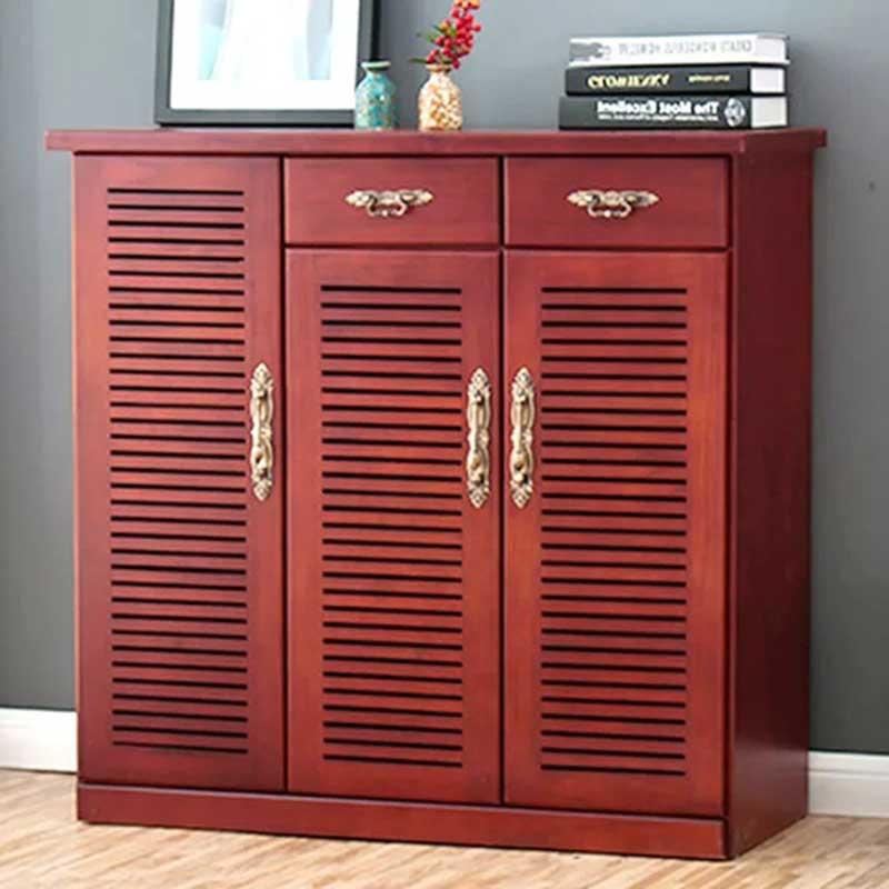 Tủ giầy dép gỗ tự nhiên phong cách thiết kế Bắc Âu TG632