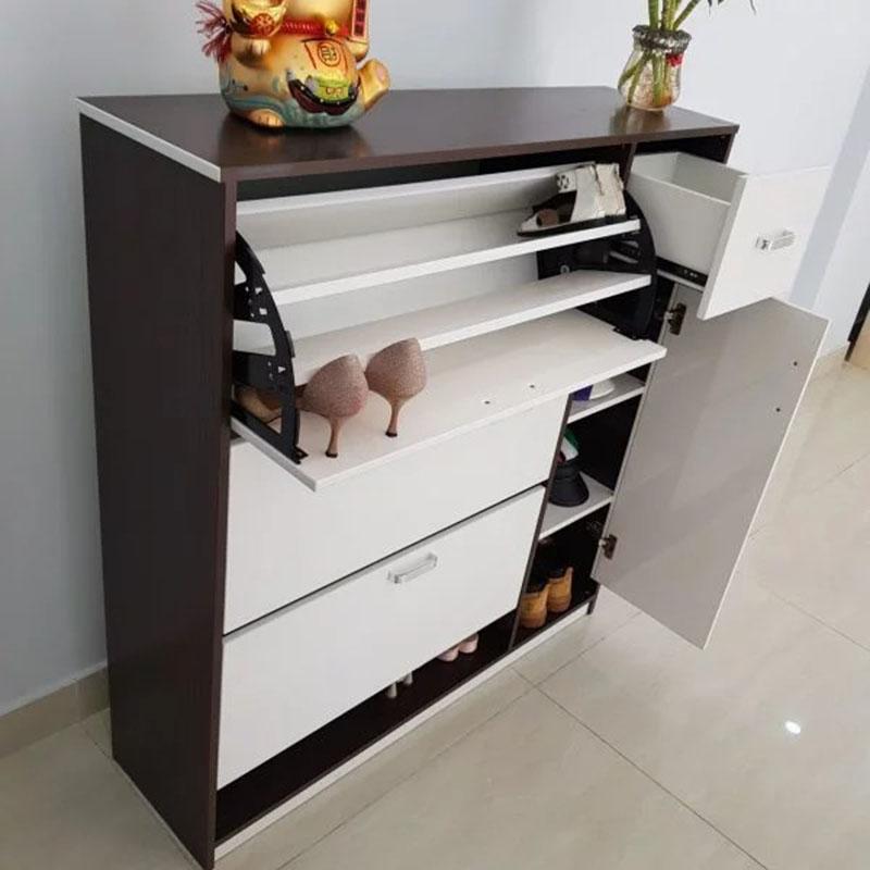 Tủ giầy thông minh gỗ MDF màu trắng 100cm TG661