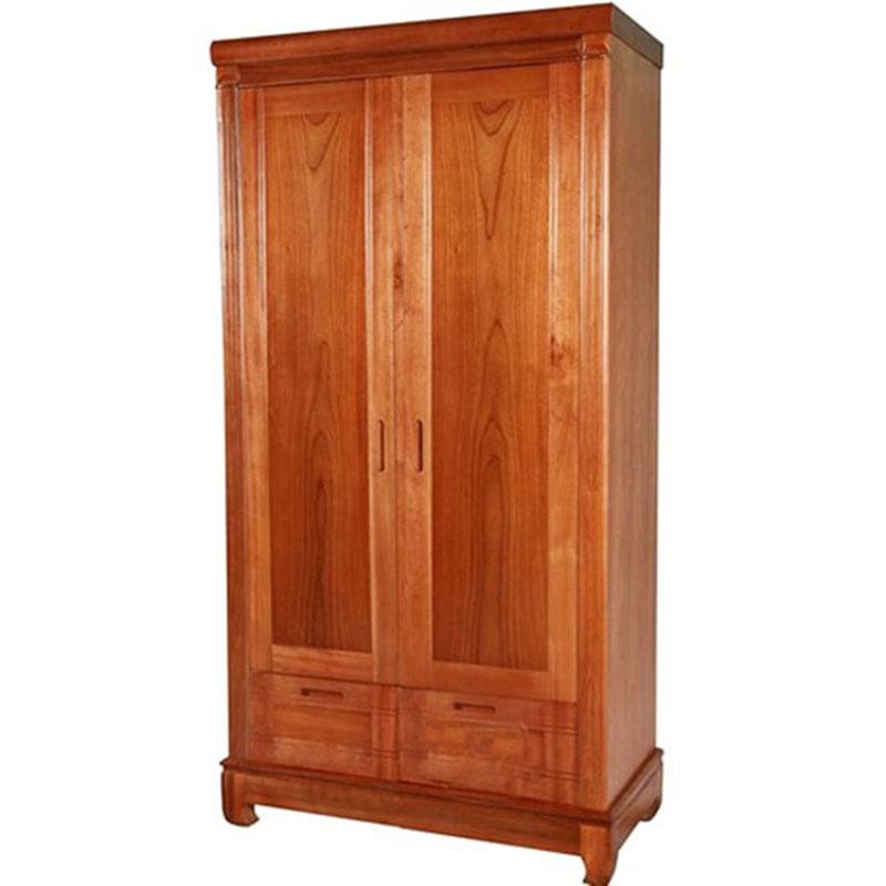 Tủ áo 2 cánh gỗ xoan đào tự nhiên TQ368