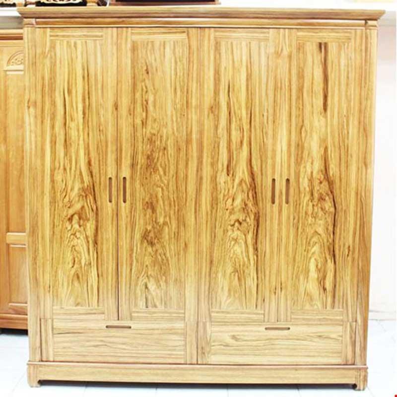 Tủ gỗ 4 cánh gỗ hương đã cao cấp cánh mịn TQ388