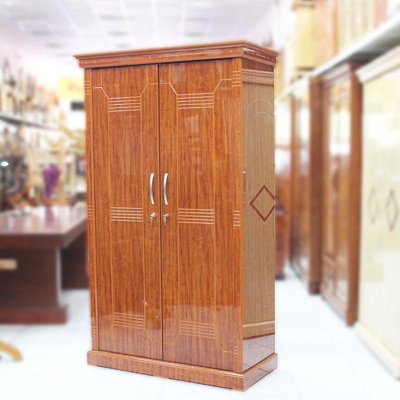Tủ quần áo 2 cánh gỗ công nghiệp màu cánh gián TQ366