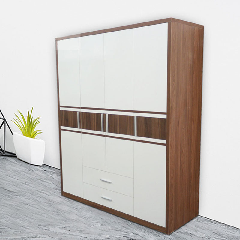 Tủ quần áo gỗ MDF 4 cánh gia đình giá rẻ TQ468
