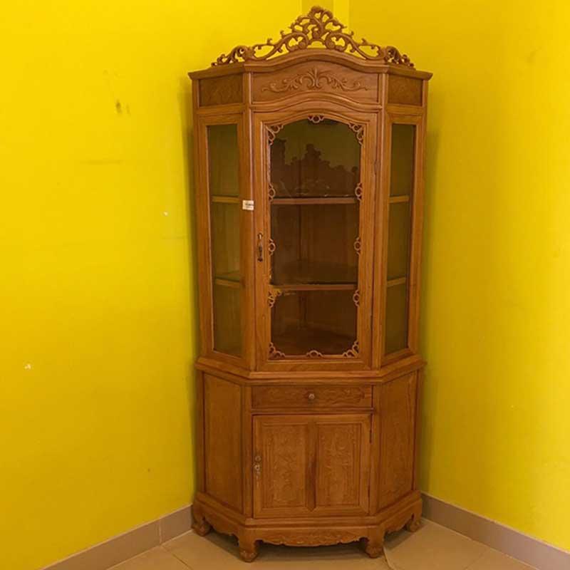 Tủ rượu góc gỗ gõ đỏ kích thước 60cm nhỏ gọn TR668