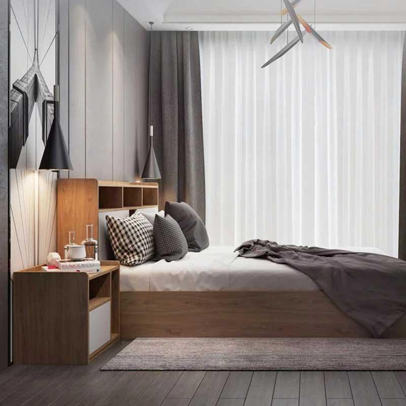 Tủ  trang trí bằng gỗ kiểu dáng nhỏ gọn TT333