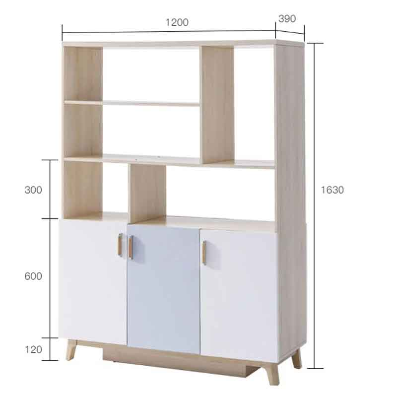 Tủ trưng bày phòng khách gỗ kiểu dáng hiện đại TT267