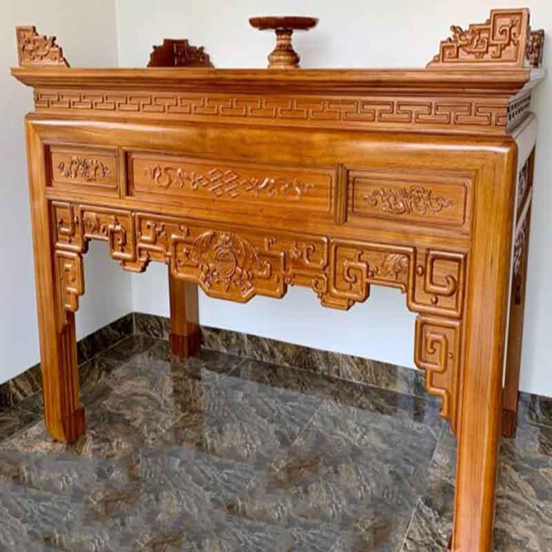 Án gian thờ gỗ gụ mẫu Triện Dơi chân 12 AG909
