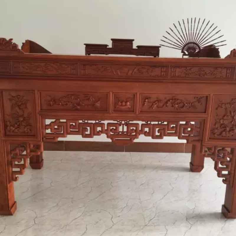 Án gian thờ gỗ Hương Đá cao cấp chân 12 AG929