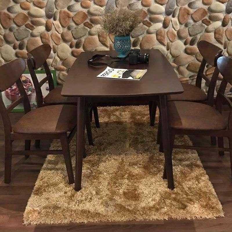 Bộ bàn ăn Mango 4 ghế gỗ tự nhiên màu Nâu BA533