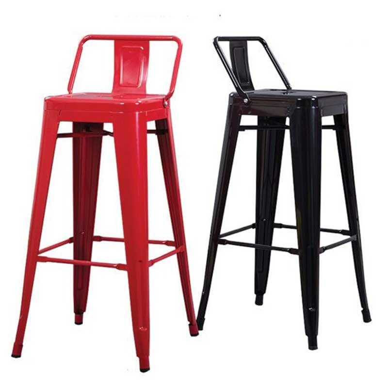 Ghế Tolix chân bar cao, có tựa lưng bền đẹp GB260