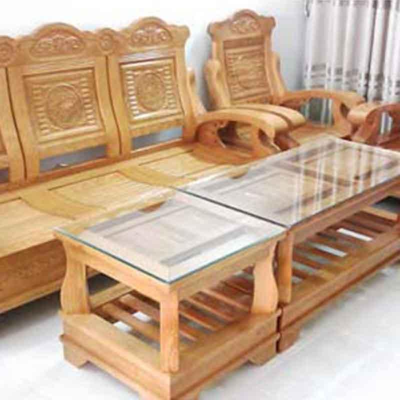 Bộ bàn ghế phòng khách Thiên Nga gỗ sồi BK202