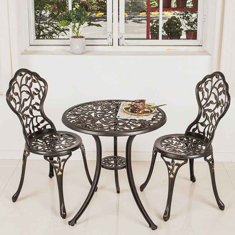 Bộ bàn ghế sân vườn nhôm đúc nhập khẩu BS255