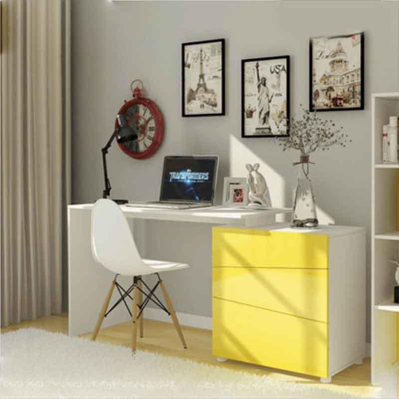 Bàn học tại nhà thiết kế hiện đại với ghế Eames BH366