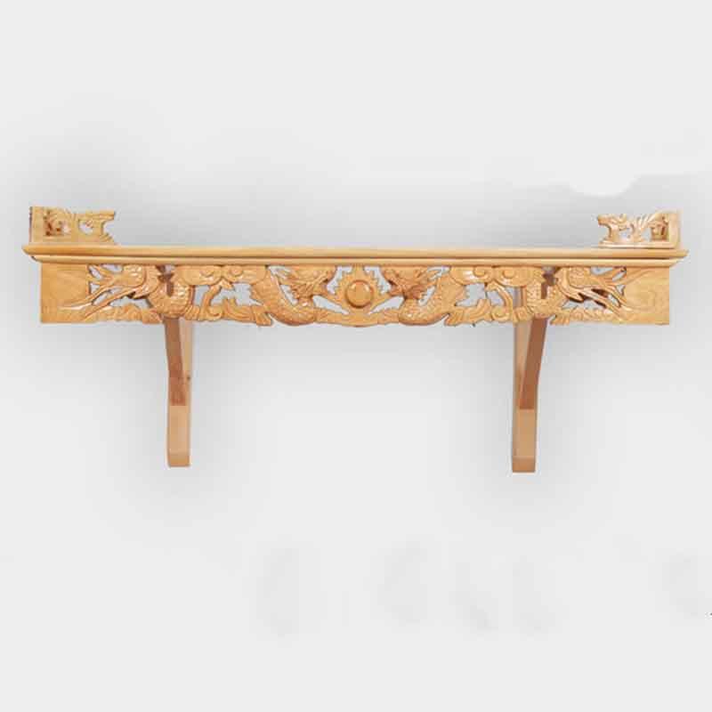 Bàn thờ treo tường gỗ Mít chạm Rồng đẹp mắt BO698