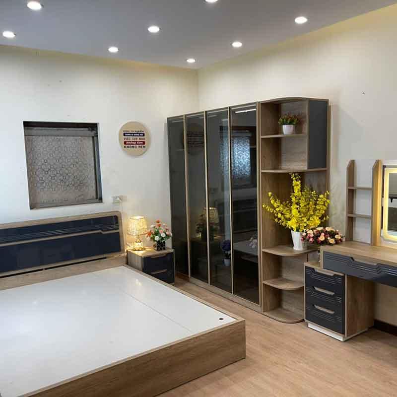 Combo nội thất phòng ngủ gỗ công nghiệp hiện đại CB238