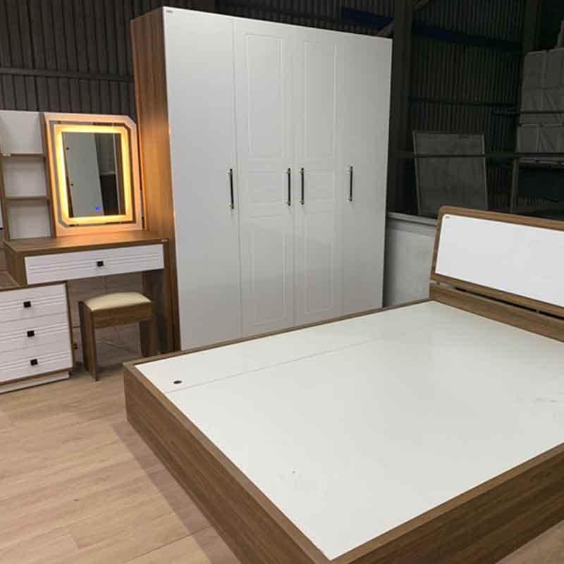 Combo phòng ngủ giường, tủ hiện đại cho vợ chồng trẻ CB289