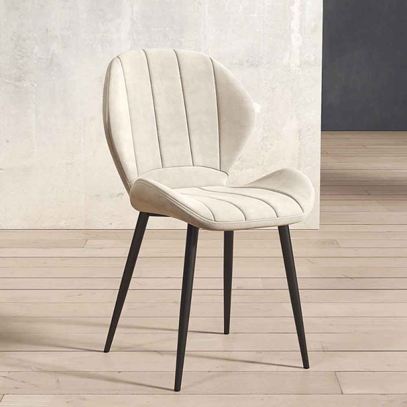 Ghế Nordic sọc bọc da cao cấp nhiều màu GA662