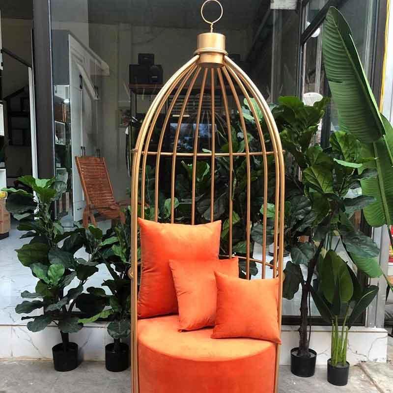 Ghế lồng chim nghệ thuật đệm nhung loại đẹp đủ màu GG290