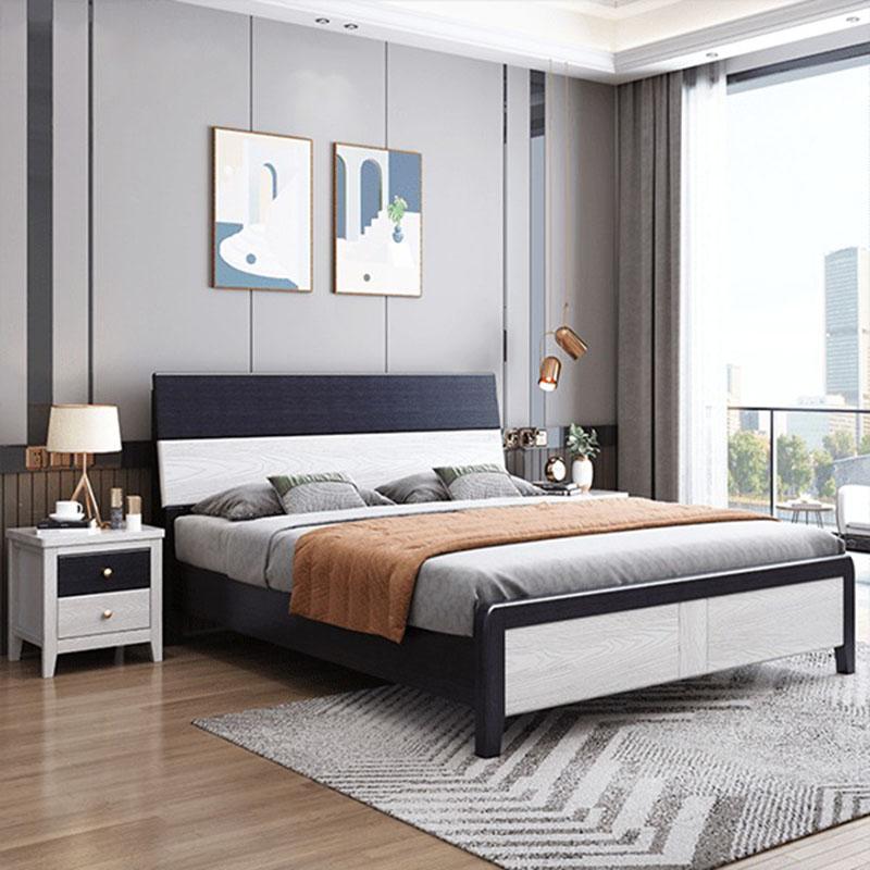 Giường ngủ bằng gỗ phong cách hiện đại GN898