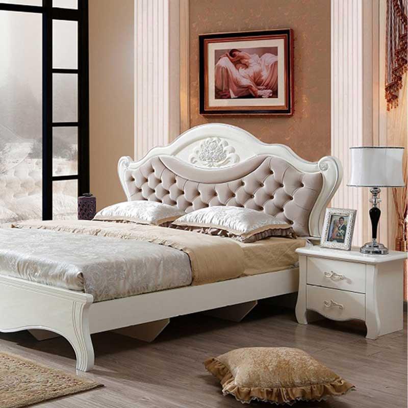 Giường ngủ phong cách tân cổ điển GN068