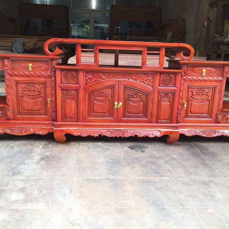 Kệ tivi sừng trâu gỗ Hương Đá dài 1m97 KT306